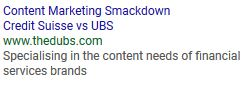 Content Marketing Smackdown Credit Suisse Vs UBS