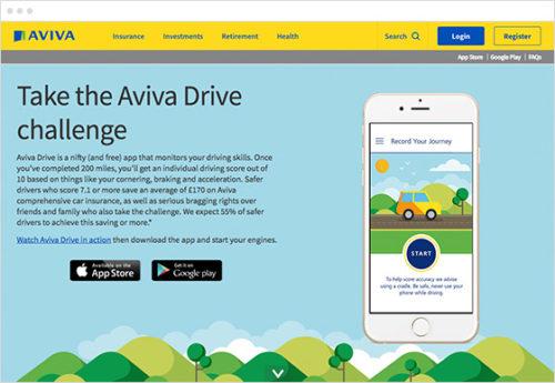 Aviva drive safe campaign