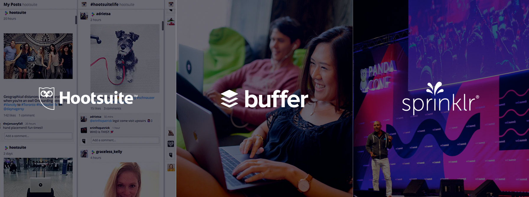 Hootsuite, Buffer and Sprinklr compared - The Dubs